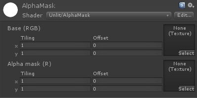 Alpha mask properties